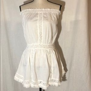Victoria Secret White Strapless Dress